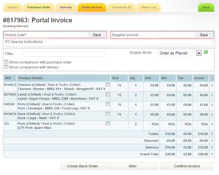 Invoice Management Procure Wizard - Invoice delivery system